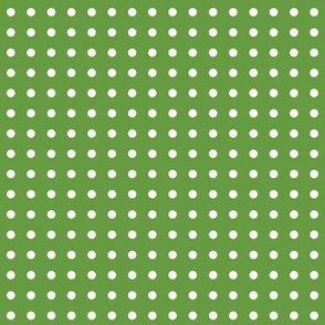 White Dots on Green
