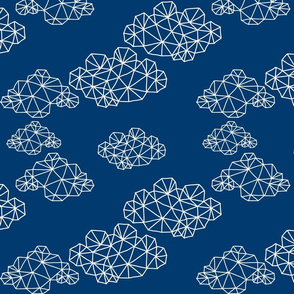 Navy Geo Clouds