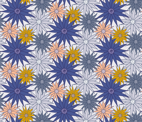 Star Floral fabric by christina_steward on Spoonflower - custom fabric