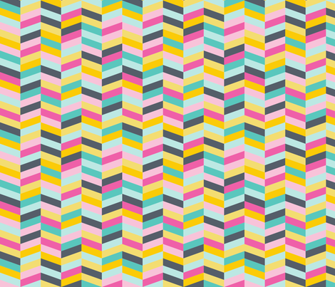 Colorful Chevron fabric by catnamedfish on Spoonflower - custom fabric