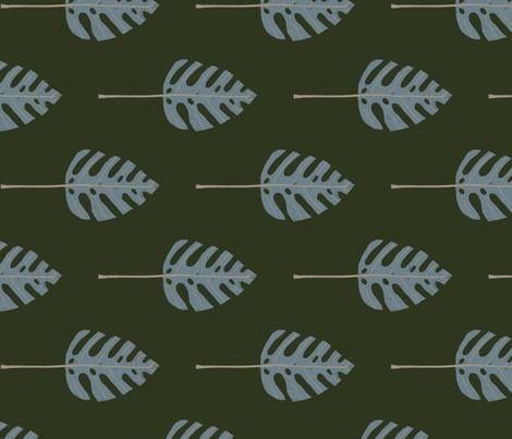 Monstera Leaves fabric by christina_steward on Spoonflower - custom fabric