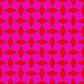 Geometric red and pink