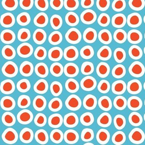 dots_for-whales_orange/white_on_blue