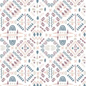 geometric tribal pink