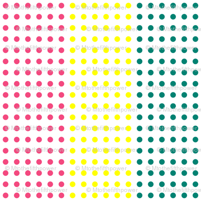 Pink, Yellow, and Teal Blue Horizontal Candy Buttons