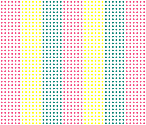 Pink, Yellow, and Teal Blue Horizontal Candy Buttons fabric by mtothefifthpower on Spoonflower - custom fabric