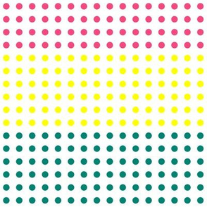 Pink, Yellow, and Teal Blue Vertical Candy Buttons