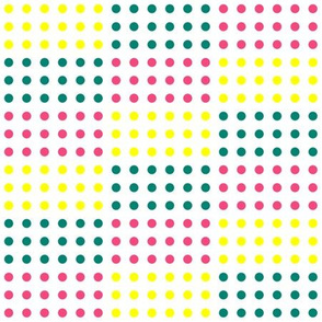 Pink, Yellow, and Teal Blue Horizontal Stepped Candy Buttons