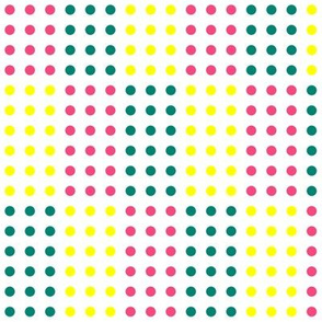 Pink, Yellow, and Teal Blue Vertical Stepped Candy Buttons