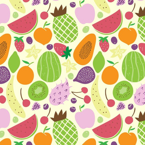 fruits pattern light