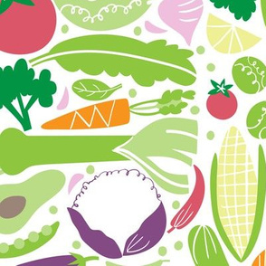 "Veggies pattern matching ""Let food be thy medicine tea towel"""