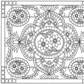 Flowers and Flyers Coloring Book Page 1 - Design Entry