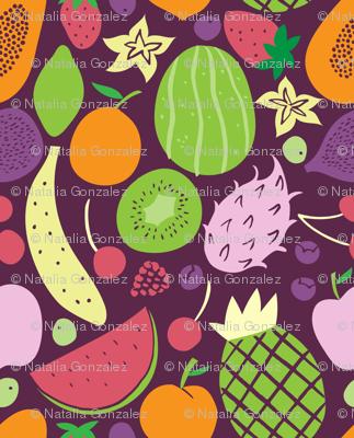 fruits pattern dark