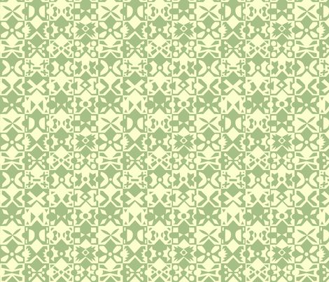 minimal global green and yellow fabric by natalia_gonzalez on Spoonflower - custom fabric