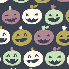 halloween pumpkins dark grey