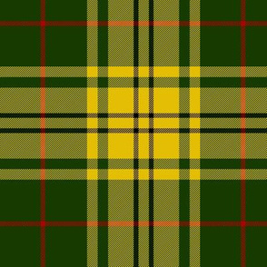 "Harmer tartan, 6"" yellow/green"