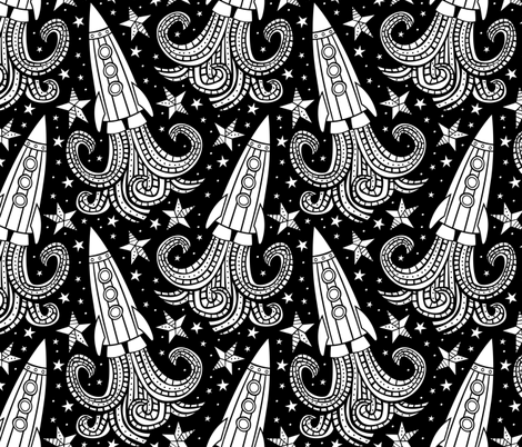 Let's Explore the Cosmos fabric by robyriker on Spoonflower - custom fabric