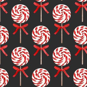 whirly pop - Christmas v2 red and white on dark grey