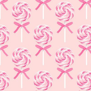 whirly pop - pink on pink  - lollipop fabric