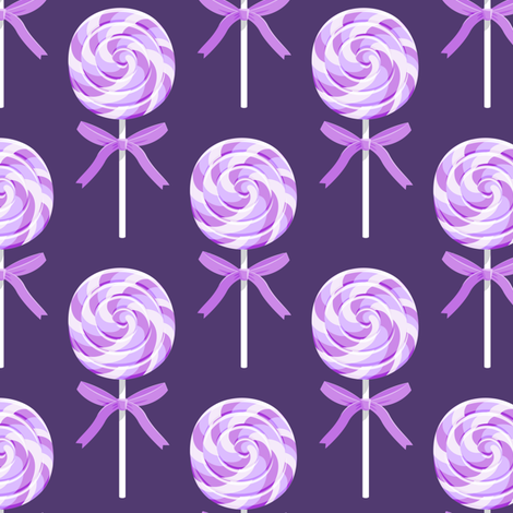 whirly pop -purple on purple- lollipop fabric fabric by littlearrowdesign on Spoonflower - custom fabric