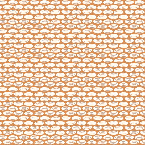 Seeds on Orange fabric by jacquelinehurd on Spoonflower - custom fabric