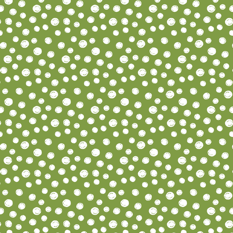 White Peas on Green fabric by jacquelinehurd on Spoonflower - custom fabric
