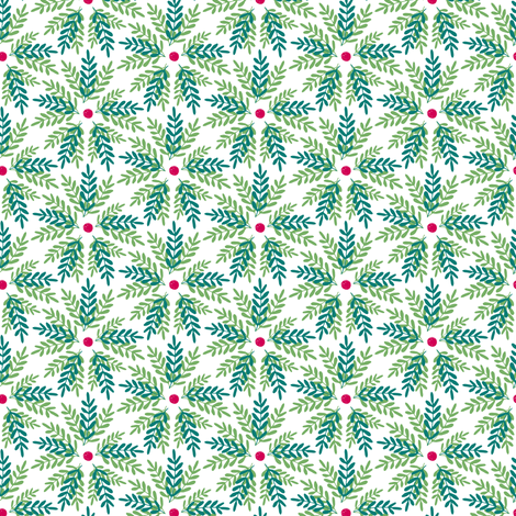 Holiday Greenery fabric by jacquelinehurd on Spoonflower - custom fabric