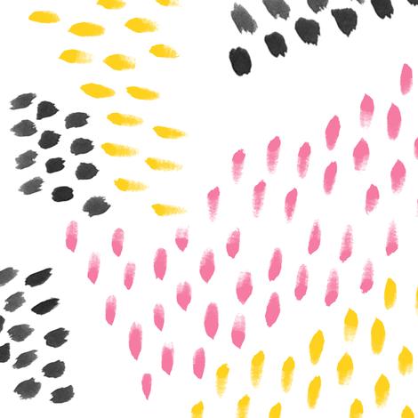 Pink Lemonade Abstract Watercolor Brush Strokes fabric by nicoledobbins on Spoonflower - custom fabric
