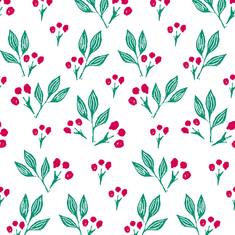 Block Print Berries  fabric by jacquelinehurd on Spoonflower - custom fabric