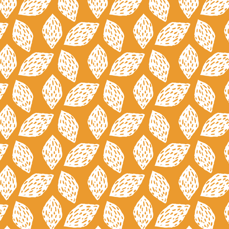 Walnuts on Yellow fabric by jacquelinehurd on Spoonflower - custom fabric