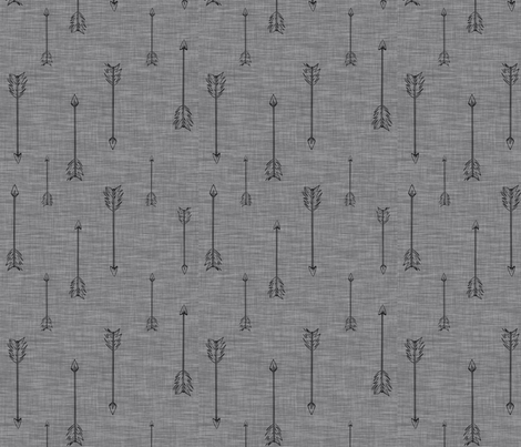 Arrows on Linen - pewrer fabric by sugarpinedesign on Spoonflower - custom fabric