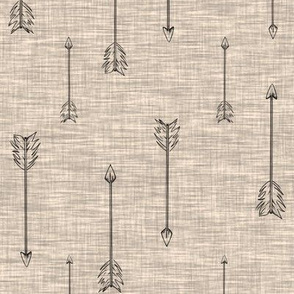 Arrows on Linen - Beige