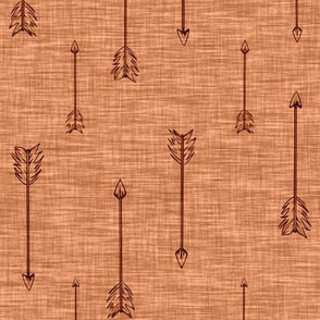 Arrows on Linen  . Rust