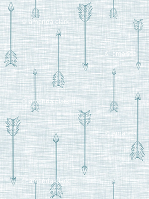 Arrows on Linen - Ice