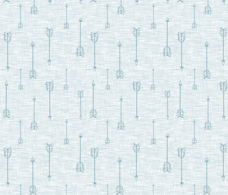 Arrows on Linen - Ice fabric by sugarpinedesign on Spoonflower - custom fabric