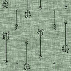 Arrows on Linen . Fern