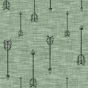 Arrows on Linen . Fern