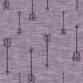 Arrows on linen . Plum