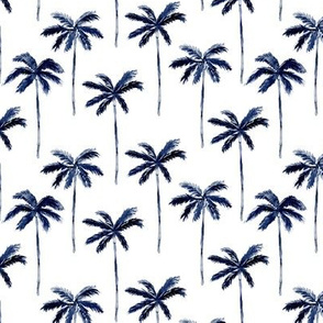 palm trees - watercolor dark blue