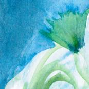 ocean flower, blue, green