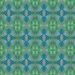 crystals, blue, green
