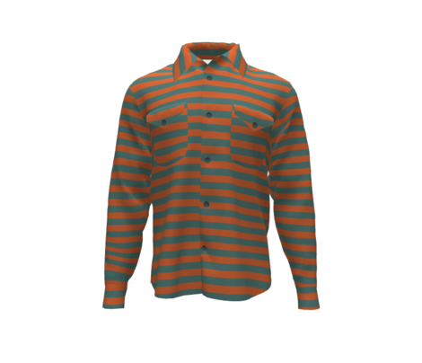 Even stripes- red clay teal