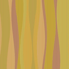 Wavy stripes-green leaf peach