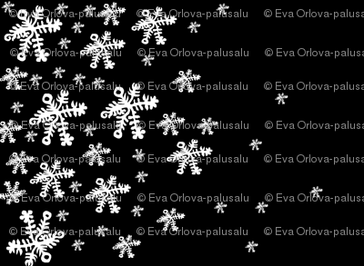 Snowflakes on Black