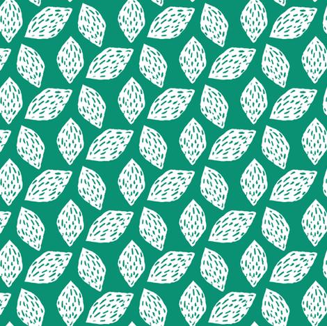 Walnut on Green fabric by jacquelinehurd on Spoonflower - custom fabric