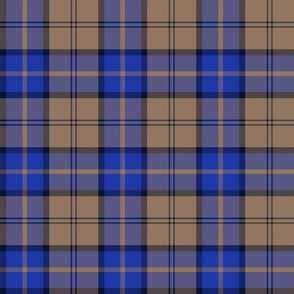 "Dunbar tartan, 6"", custom colorway tan/blue"