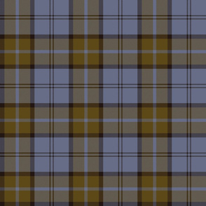 "Dunbar tartan, 6"", custom colorway gold/blue"