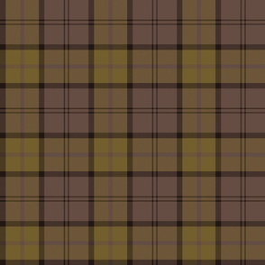 "Dunbar tartan, 6"", custom colorway gold/brown"