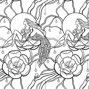 Botanical fantasy (coloring book)