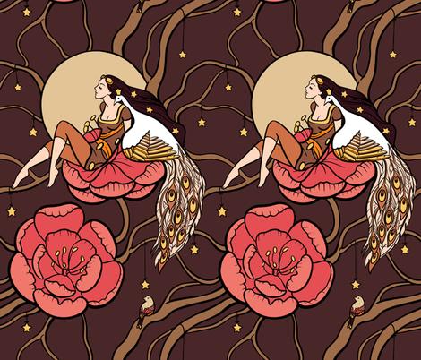 Botanical fantasy fabric by elena_naylor on Spoonflower - custom fabric